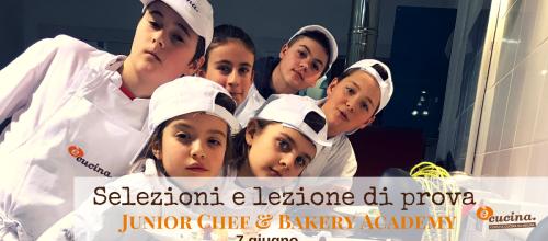 Selezioni Anno accademico 2018-2019 Accademie di cucina e pasticceria per ragazzi dai 9 ai 15 anni