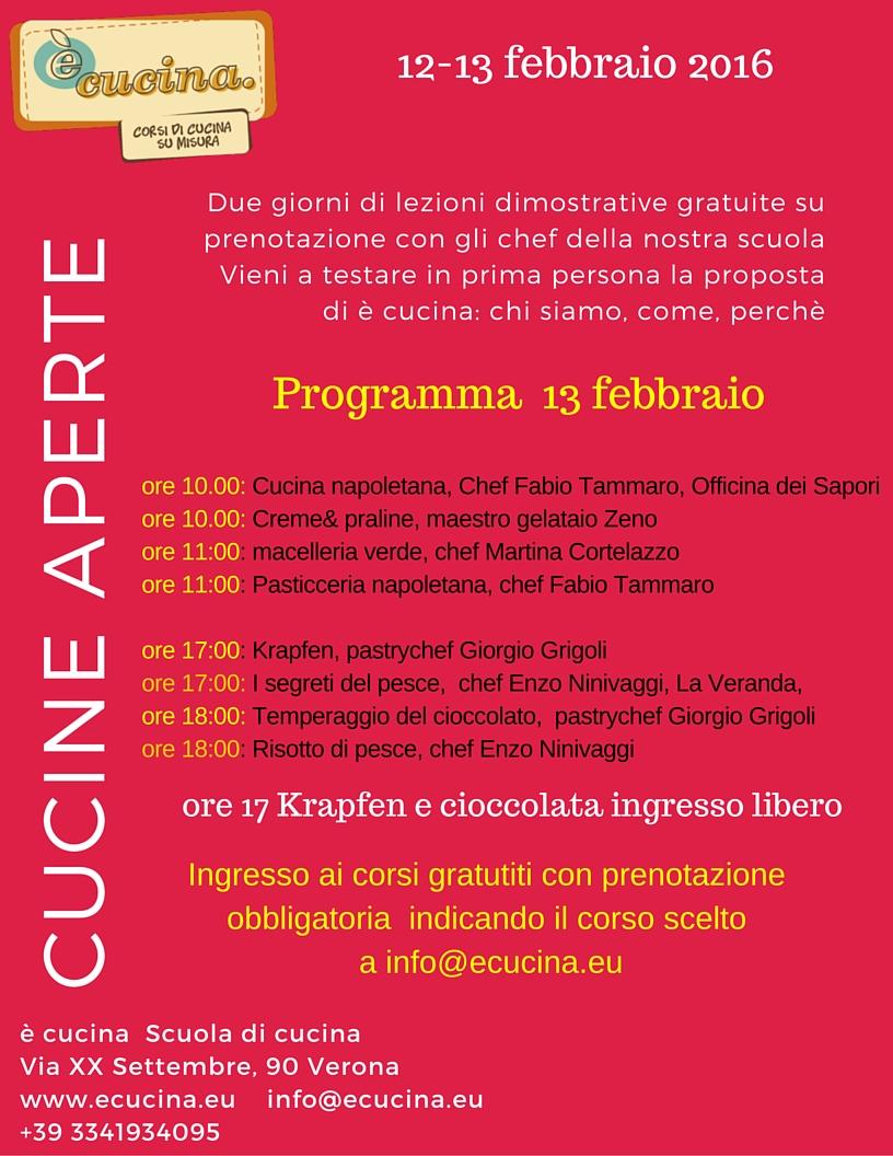 e' cucina | coming soon: cucine aperte 12-13 febbraio 2016 - e' cucina - Corso Cucina Verona