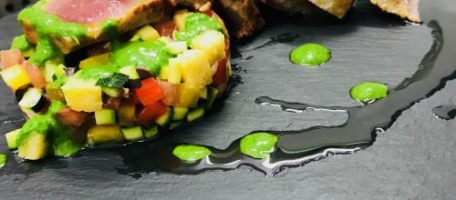 the Best of:la ricetta della tagliata di tonno dello chef Luca Fasoli